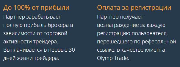 Заработок на партнерской программе Olymptrade (1)